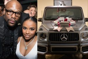 Floyd Mayweather buys a brand new G-Wagon for his 19-year-old daughter as Christmas gift (photos)