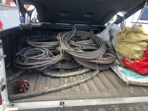 Police recovers stolen railway and Telkom cables in Cape and KwaZulu-Natal