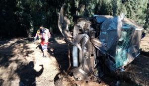 Man killed following SUV rollover in Germiston.