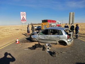 Two dead, two injured in vehicle rollover.