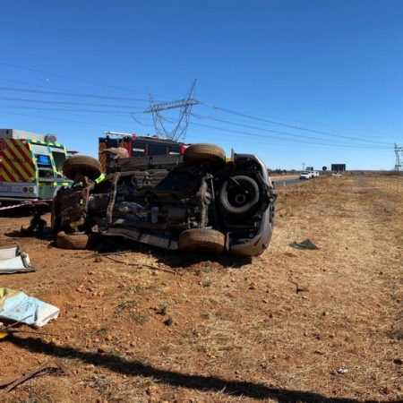 Two killed, child critical in collision.