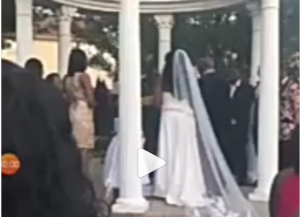 Woman crashes wedding claiming to be pregnant with groom's child (video)