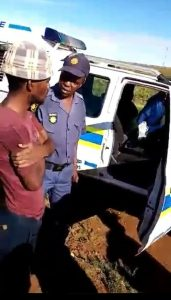 Drunk South African police officer arrested after allegedly stealing a police car (Video)