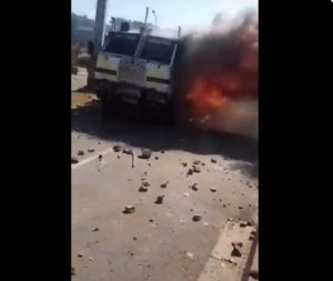 WATCH VIDEO: Police 'armoured nyala' torched during student protests at WSU