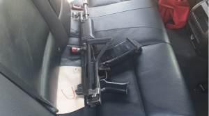 Police discover high-calibre weapons inside hijacked car in Crown Mines
