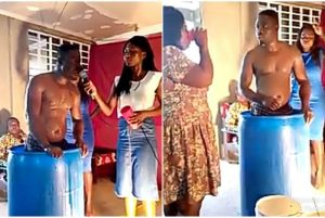 Pastor bathes in church, asks church members to drink his bath water and they did (See video)